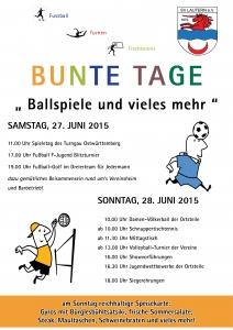 Einladung Bunte Tage 2015
