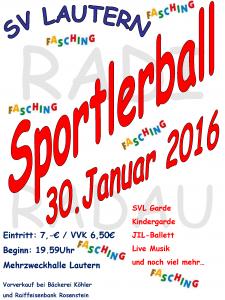 Sportlerball 2016