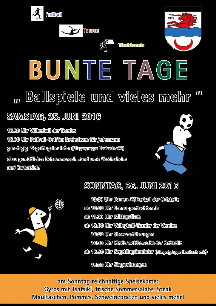 Einladung Bunte Tage 2016
